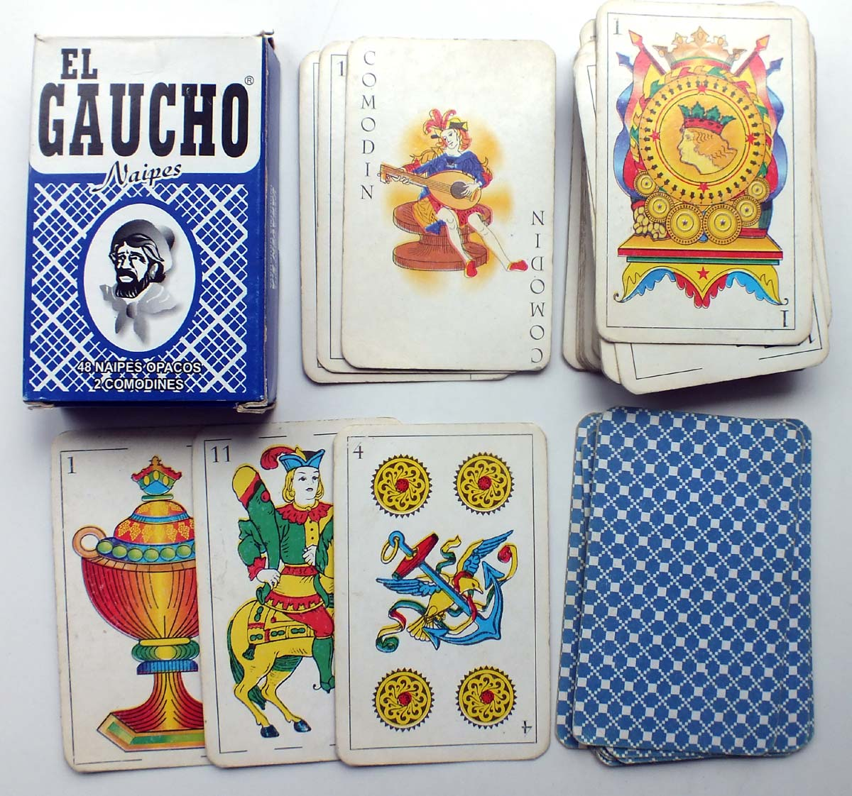 Naipes 'El Gaucho' manufactured and distributed by Caraven S.A., c.2000
