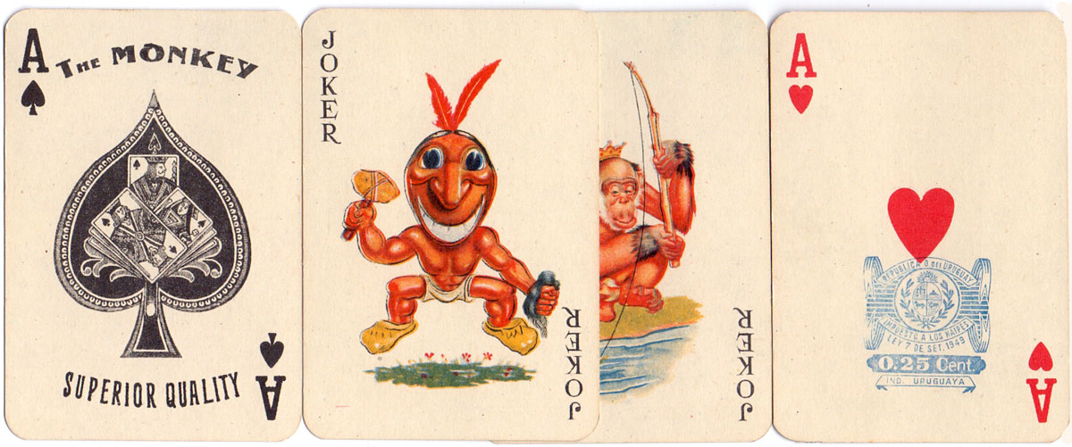 'The Monkey' playing cards  by M.C. de Casabó Ltda, c.1950