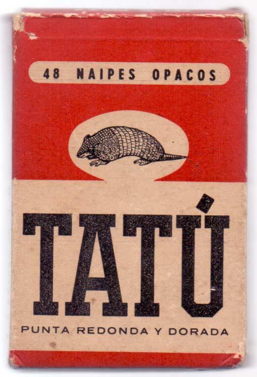Naipes Tatú, M.C. de Casabó S.A.. Montevideo, c.1956
