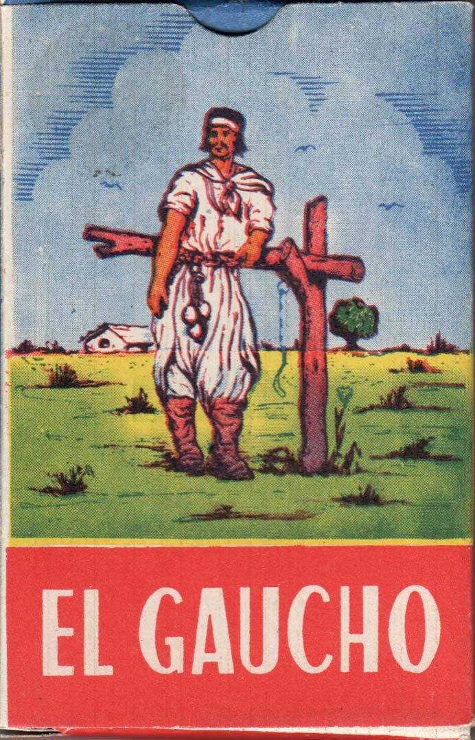 Naipes 'El Gaucho' by Cervantes S.A., Montevideo, c.1970s