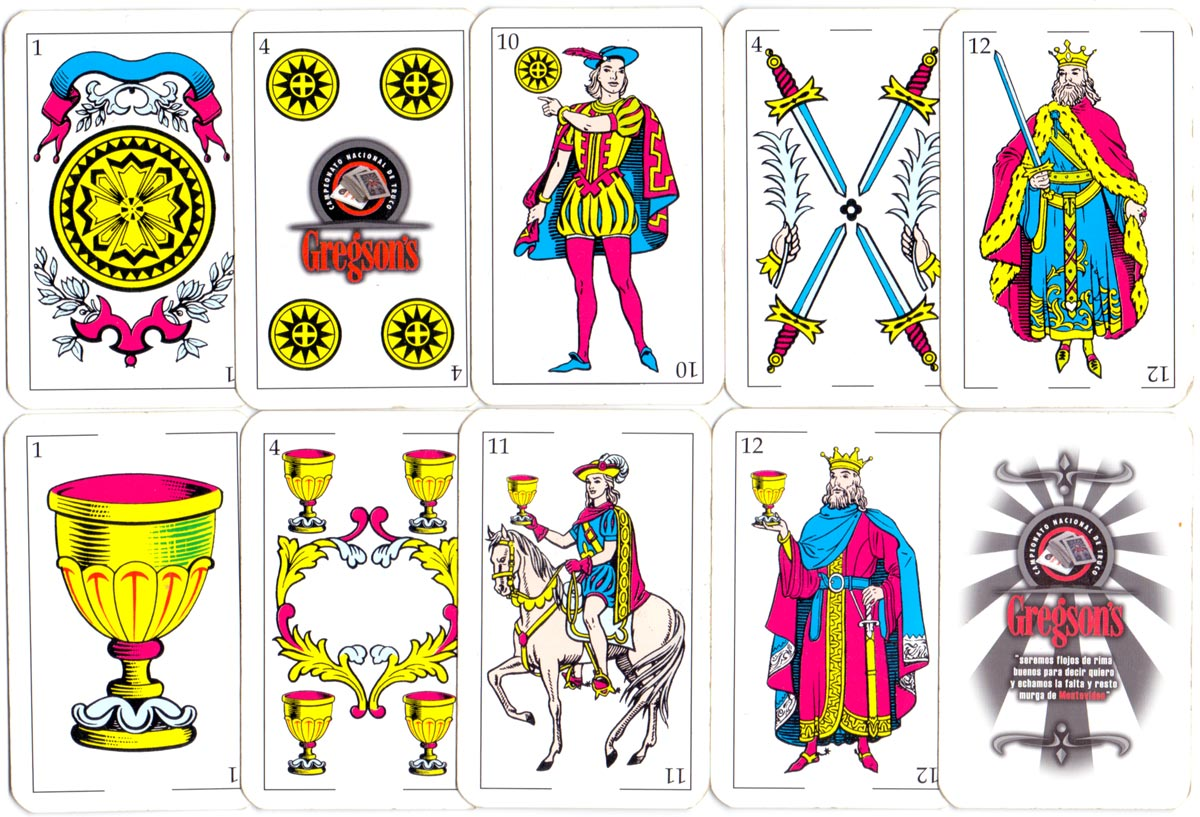 Uruguay playing cards for Gregson's Truco Championship made by Imprimex S.A., 2008