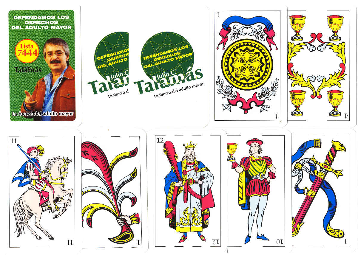 Uruguay playing cards for Julio Talamás, Imprimex S.A. (Plasur), 2006
