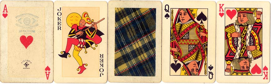 VICTORIA playing cards, c.1955