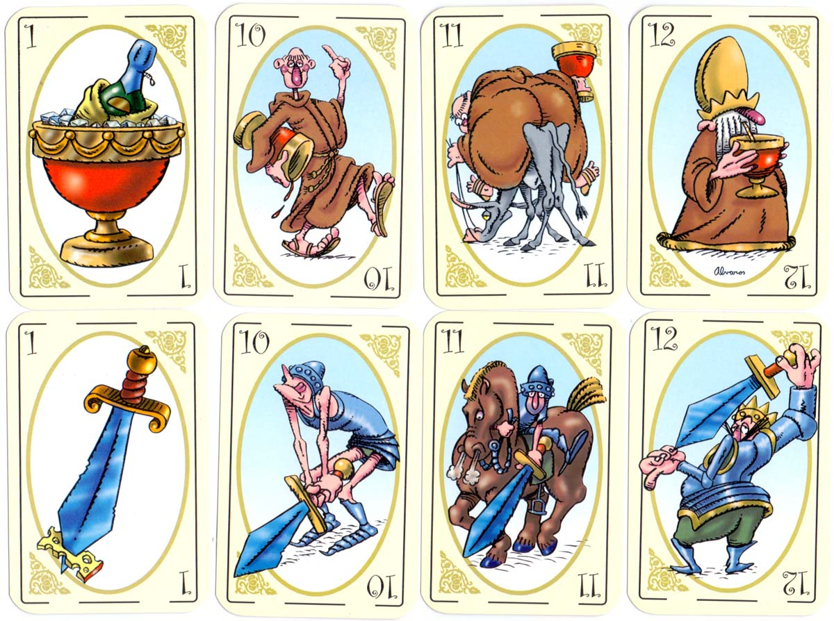 Playing Cards designed by Alvaros, published by Eduardo Carrión, Montevideo, 2000