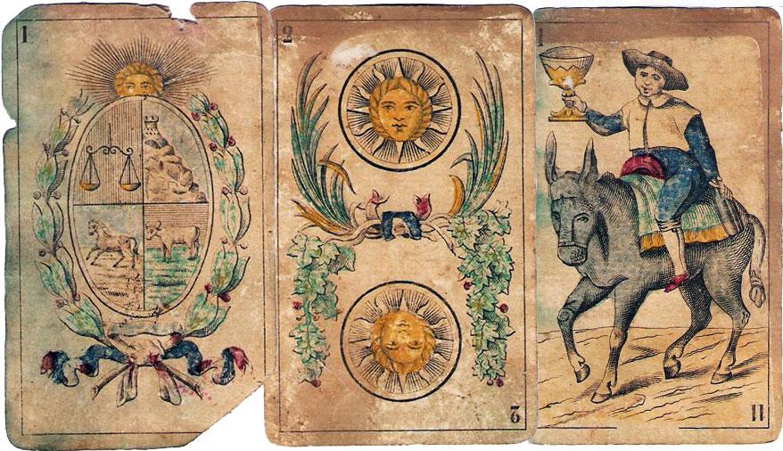 cards made in Belgium for Escalada y Vidiella, Montevideo c.1860