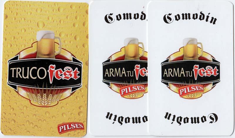 Pilsen Trucofest playing cards, Uruguay, c.2008