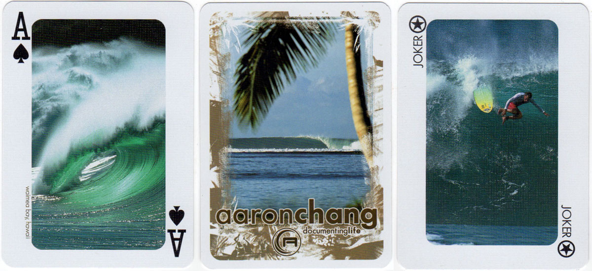 Waves From Around the World playing cards with photography by Aaron Chang