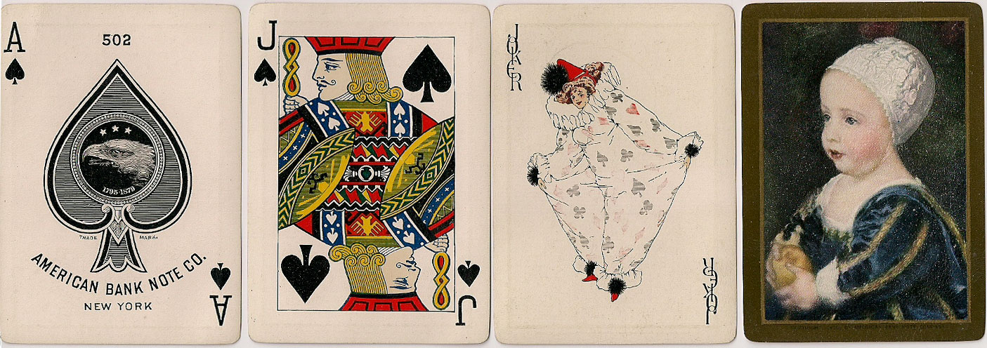 American Bank Note Co. No.502 playing cards with pictorial back design, c.1910