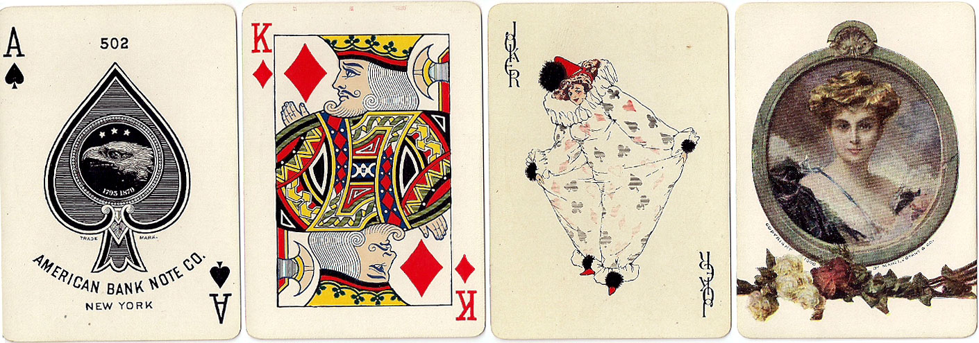 American Bank Note Co. No.502 playing cards with a fine pictorial back design, c.1910