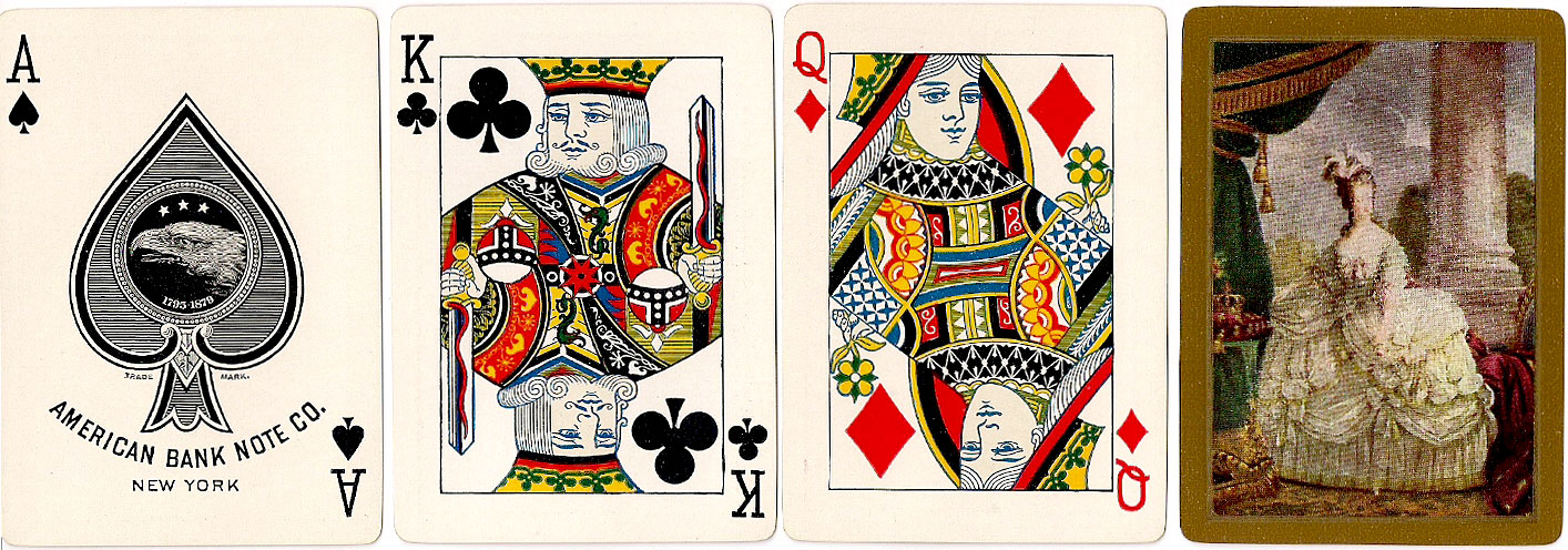 American Bank Note Co playing cards with elegant pictorial back design, c.1910
