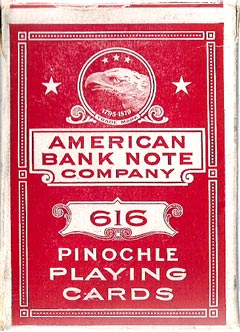 American Bank Note Co. Pinochle box, c.1912