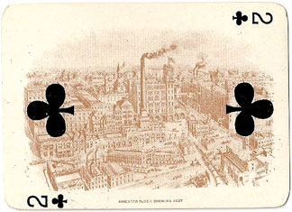 Two of Clubs, Anheuser-Busch Brewing Assn, 1899
