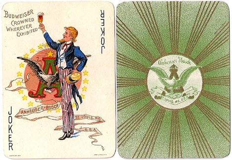 the Joker and the back design, Anheuser-Busch Brewing Assn, 1899