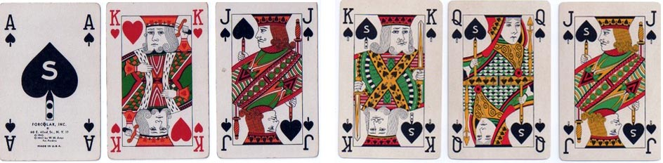 'Forcolar' playing cards, ARRCO, USA