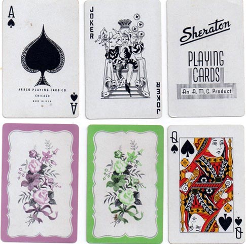 'Sheraton' playing cards, ARRCO, USA