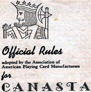 """Canasta"" leaflet, c.1951"