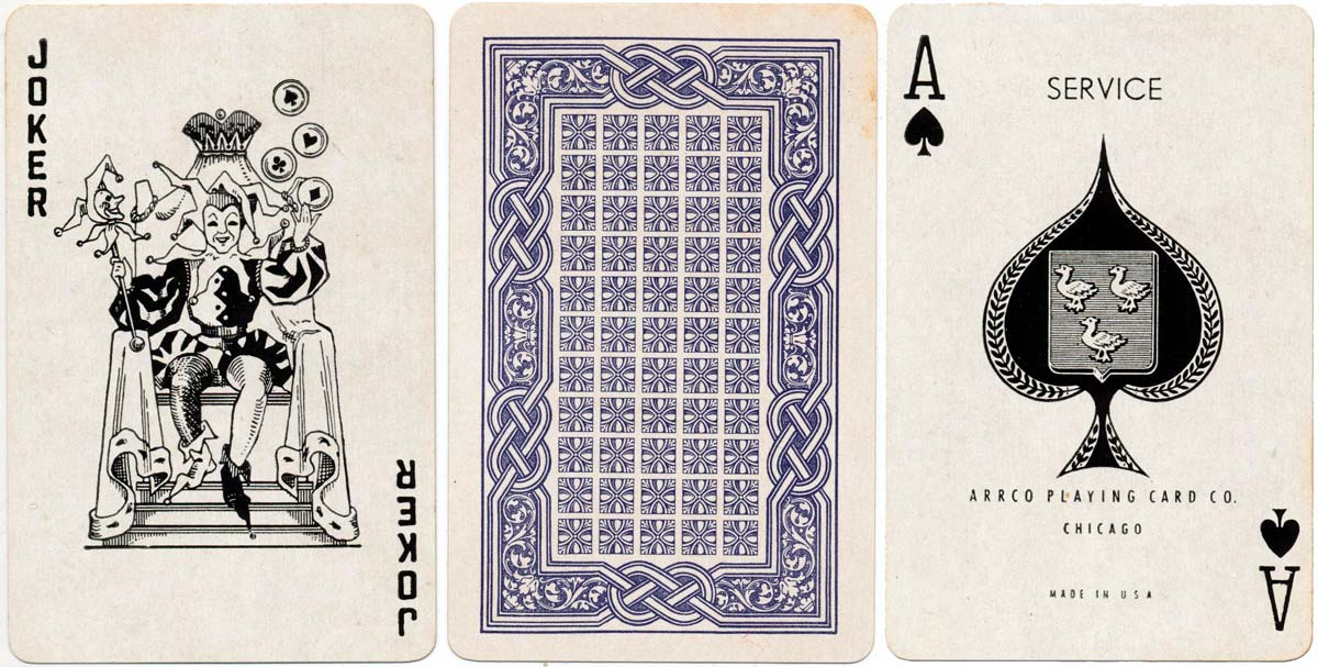 'Service de Luxe' playing cards by ARRCO, c.1943 or later