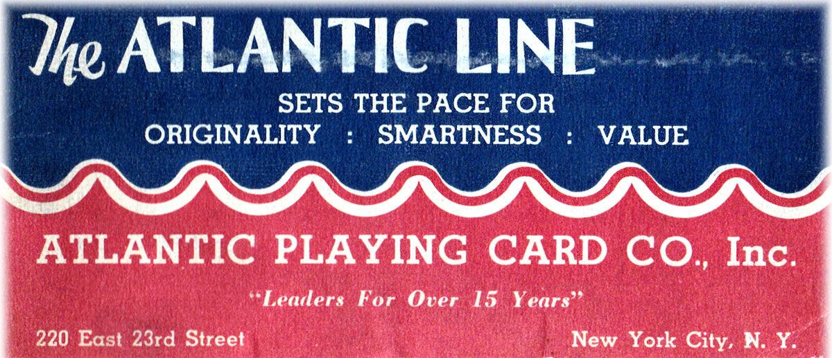 Atlantic Line Playing Card Co., Inc., c.1930s