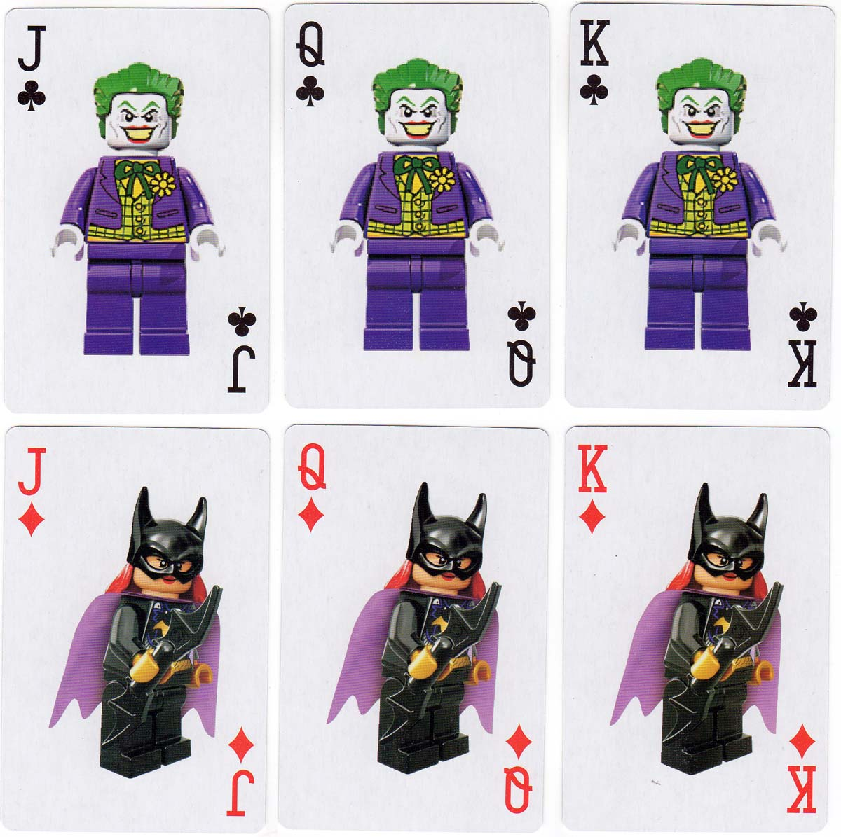 Lego Batman Movie playing cards, 2017