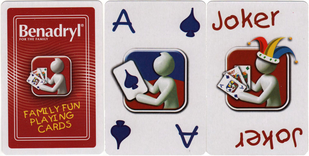 Benadryl® family fun playing cards published by Johnson & Johnson