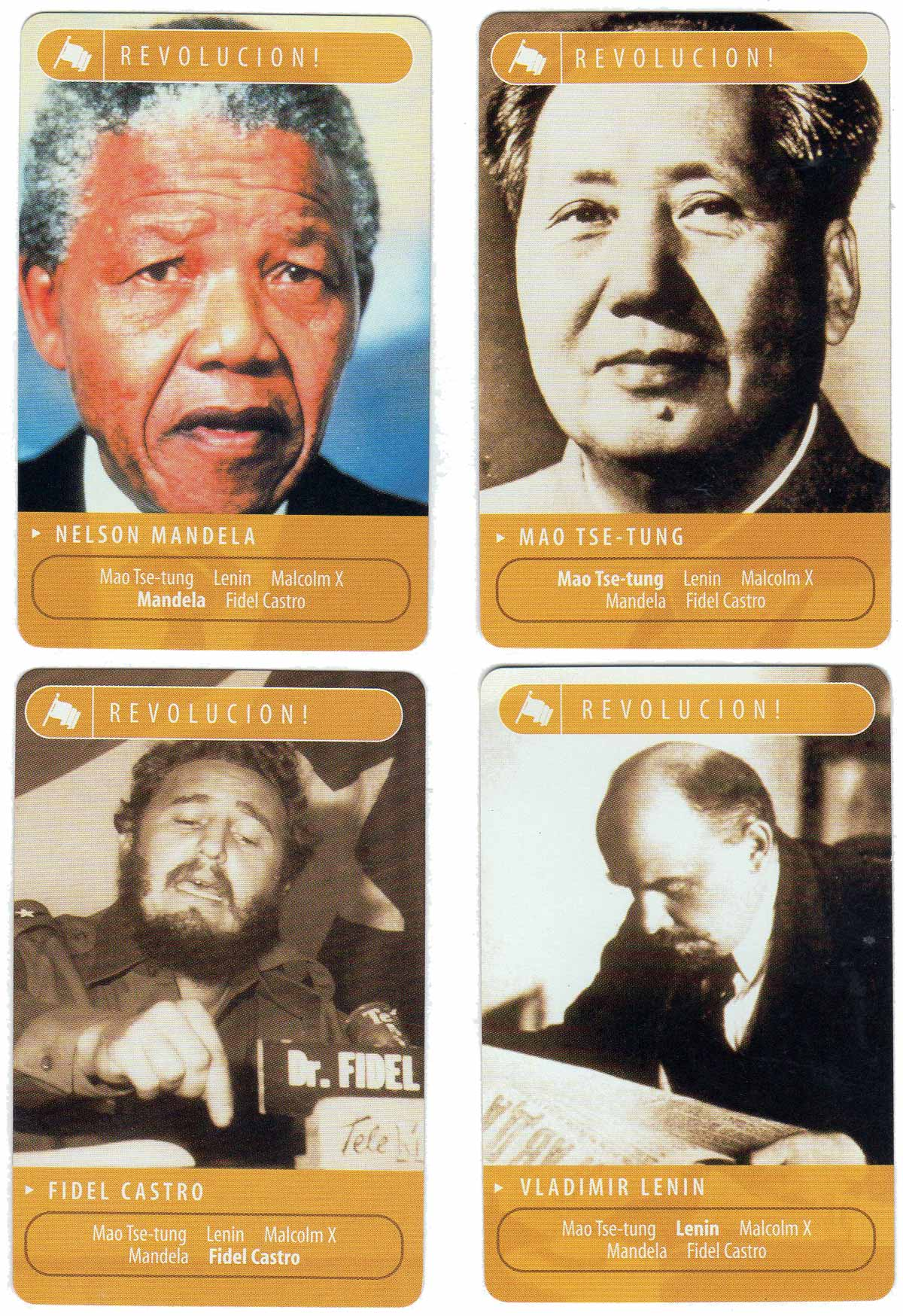 The Biography Channel Card Game, 2002