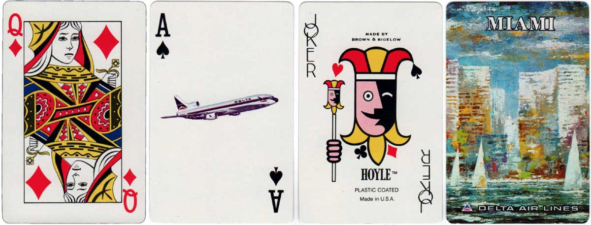 Souvenir of Delta Airlines Miami by Hoyle (Brown and Bigelow) c.1973