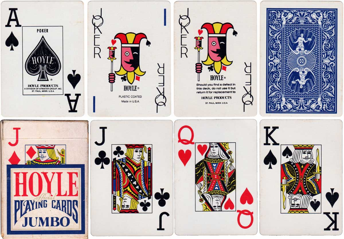 Hoyle Jumbo index playing cards with 1983 copyright date