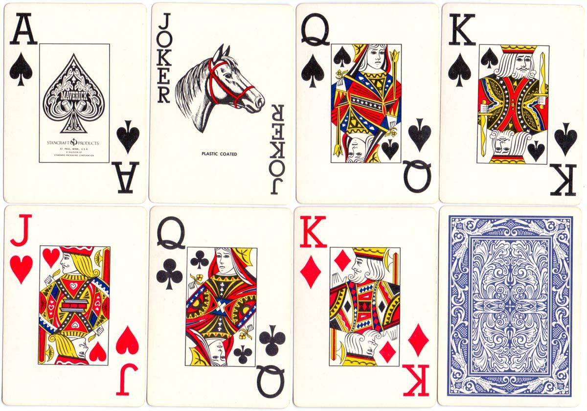 Stancraft jumbo-index Maverick playing cards, c.1975