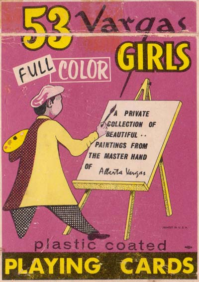 'Vargas Girls' playing cards published by Creative Playing Card Co Missouri (Brown & Bigelow), 1953