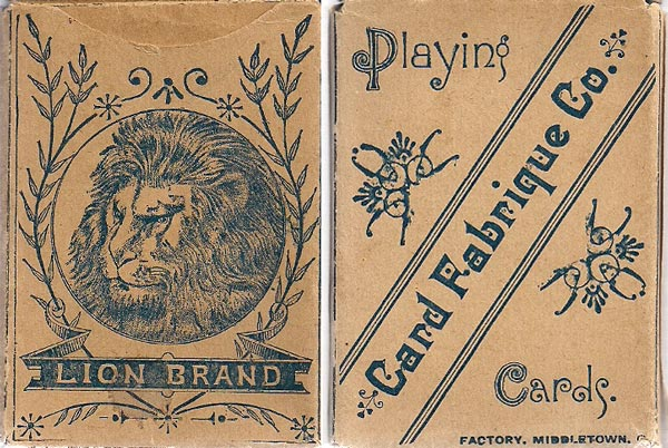 Box by Card Fabrique Company, Middleton, Ohio (USA) c.1880
