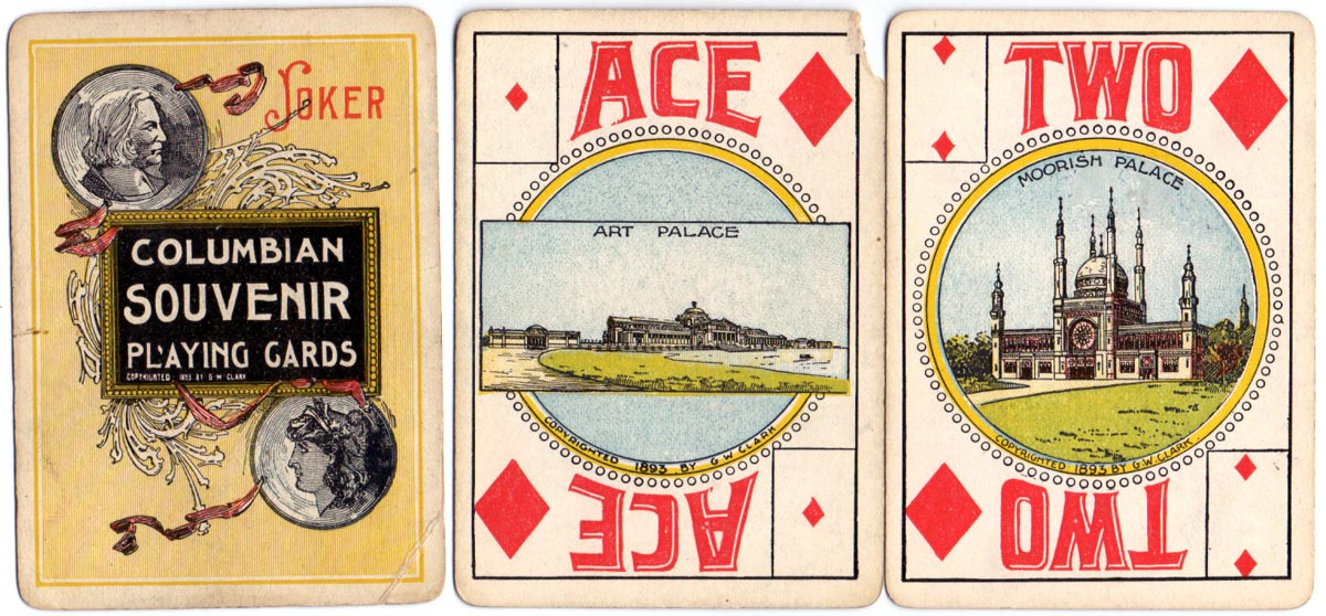 Columbian Exposition Souvenir playing cards, G.W. Clark, Chicago, 1893