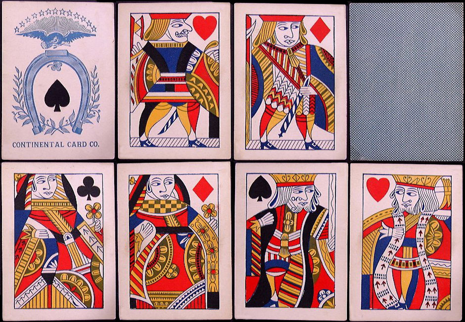 cards produced by The Continental Card Company, Philadelphia, c.1875