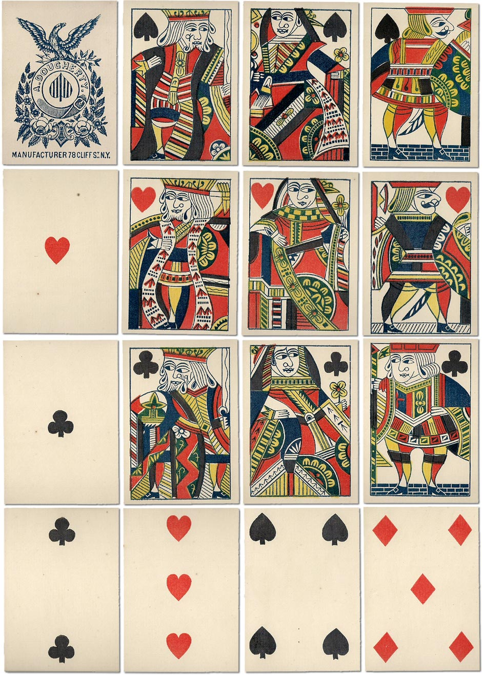 early single-ended deck by Andrew Dougherty, c.1850