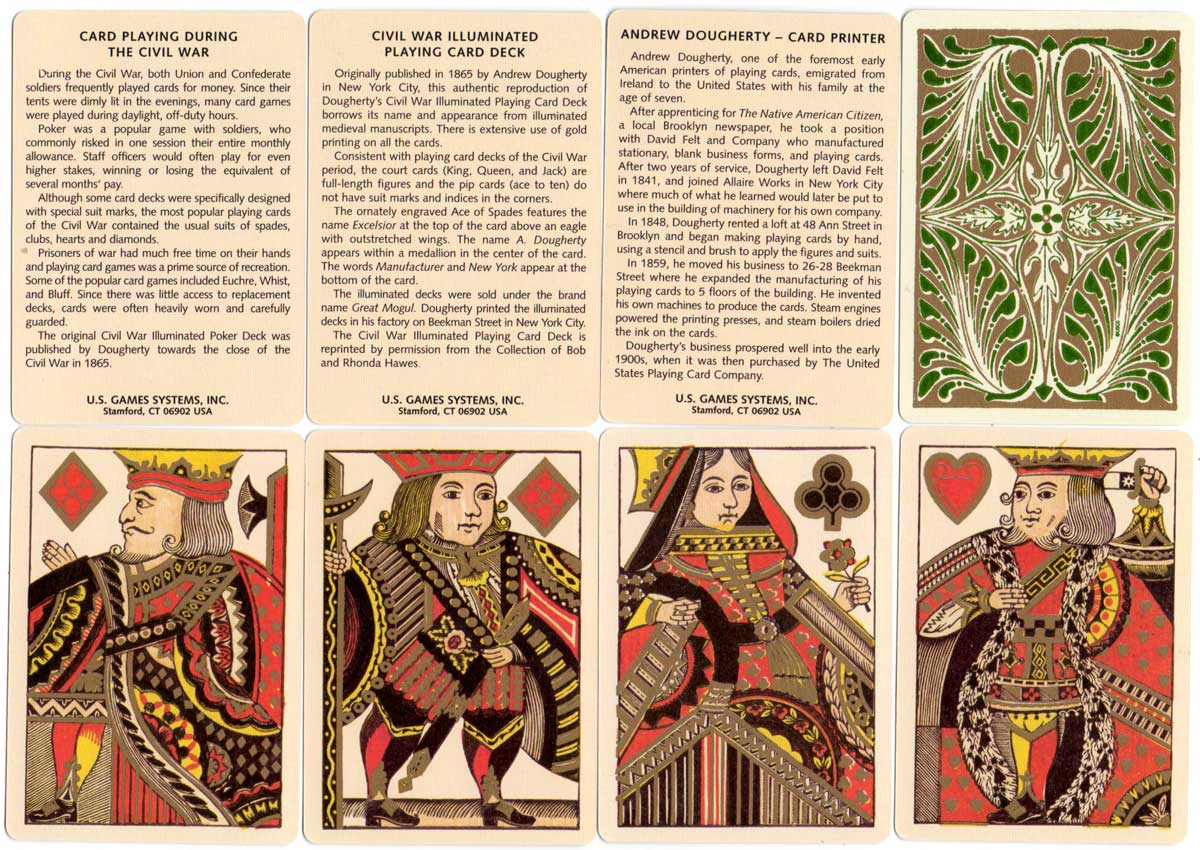 Reproduction of Dougherty's Illuminated Playing Cards, c.1865
