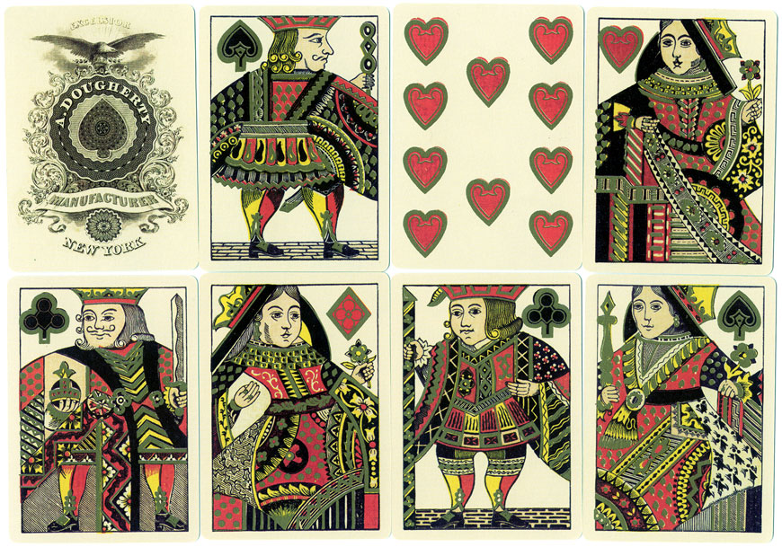 Reproduction of Illuminated Playing Cards, c.1865