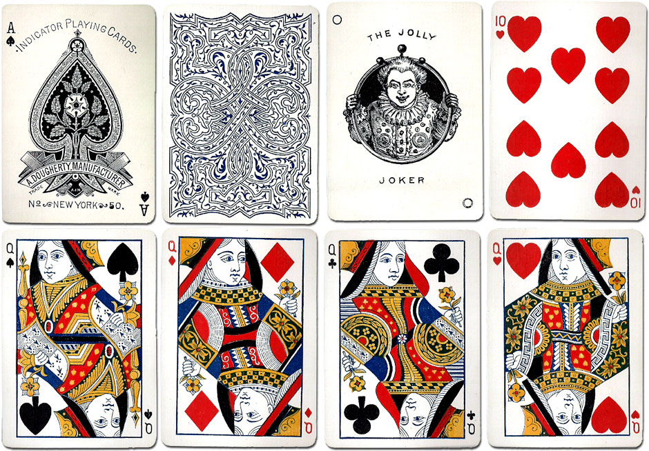 A. Dougherty's 'Indicator No.50' playing cards, c.1896