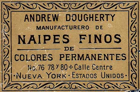 detail from wrapper for Spanish suited cards, c.1882