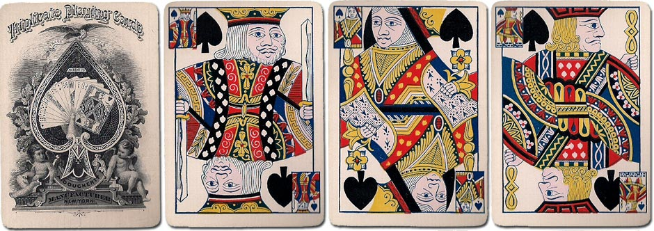 Triplicate playing cards by Andrew Dougherty, c.1878