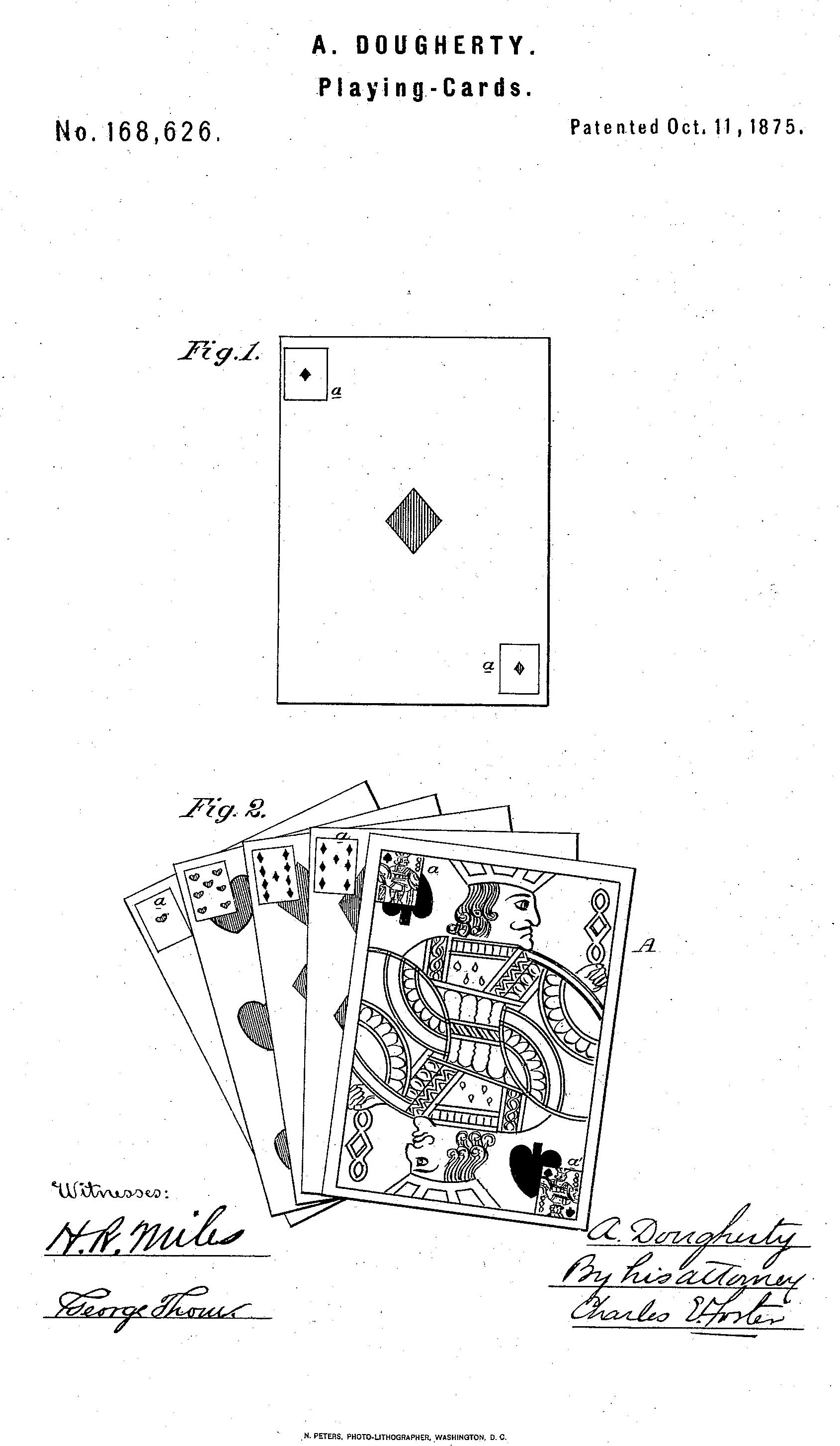 """Doughtery's patent for his """"Triplicates"""""""