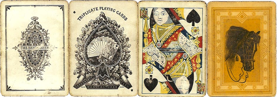 Triplicate playing cards by Andrew Dougherty, c.1876