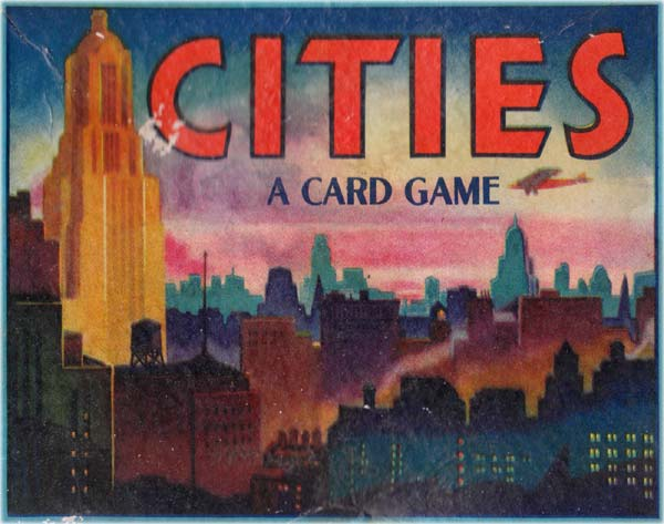 Game of Cities card game published by E. E. Fairchild Corporation under their 'All-Fair' brand, 1945