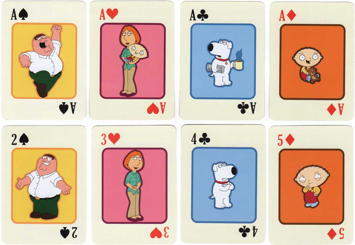 Family Guy merchandise deck licensed and copyright by Fox 2010