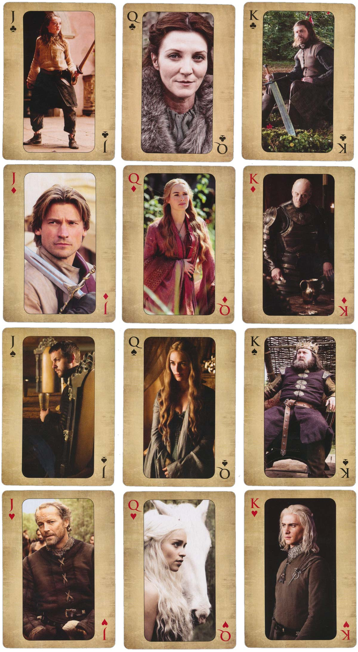 Game of Thrones Playing Cards, 2016 © Home Box Office, Inc.