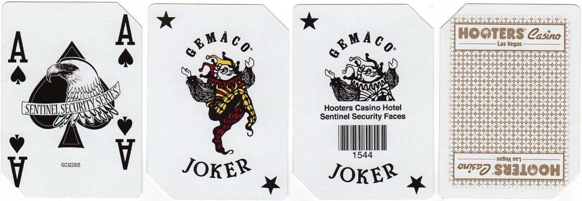 'Gemaco' playing cards produced for Hooters Casino Las Vegas, c.2000