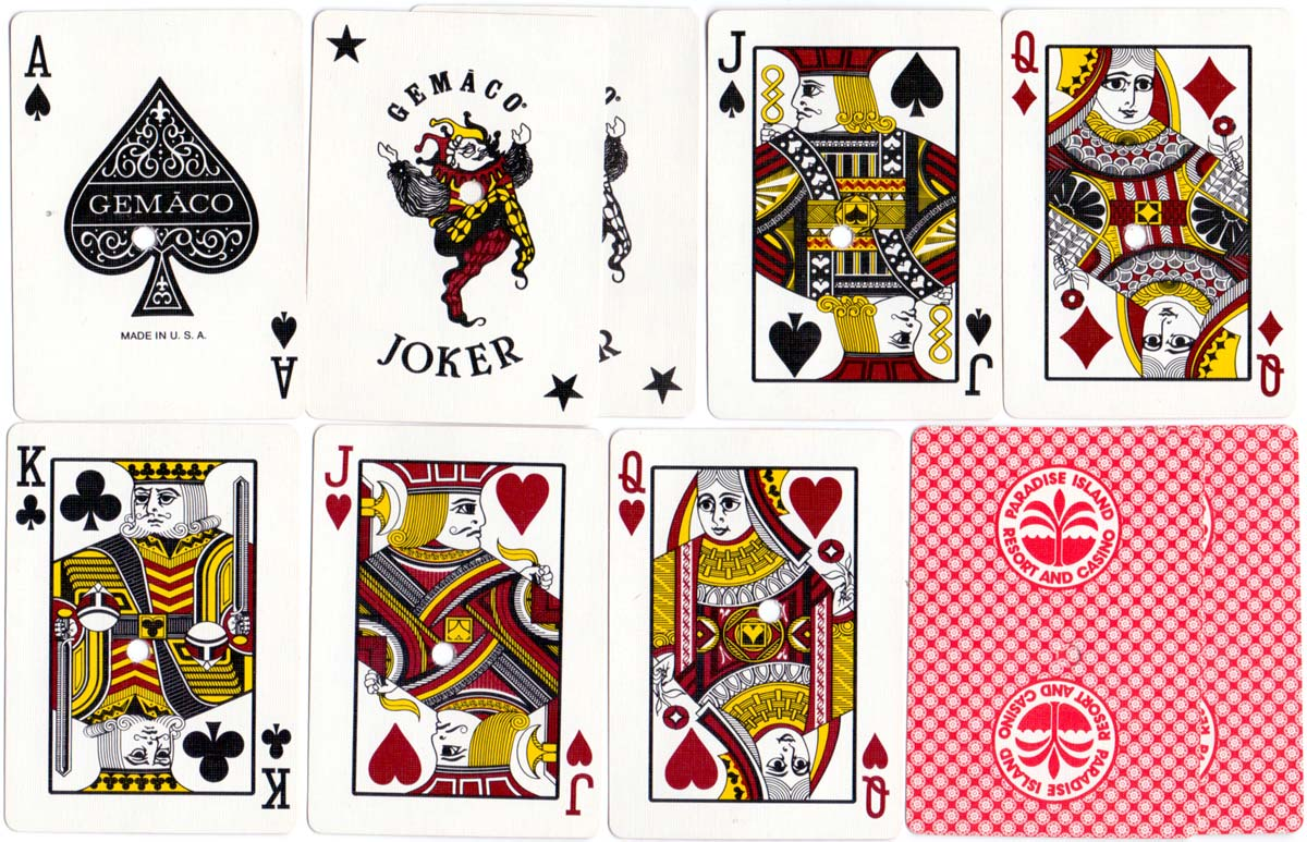 'Gemaco' playing cards produced for the Paradise Island Resort and Casino