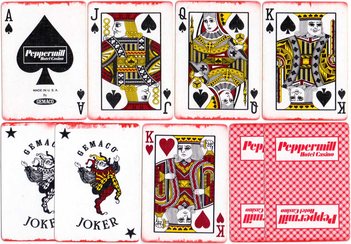 'Gemaco' playing cards produced for Peppermill Hotel Casino