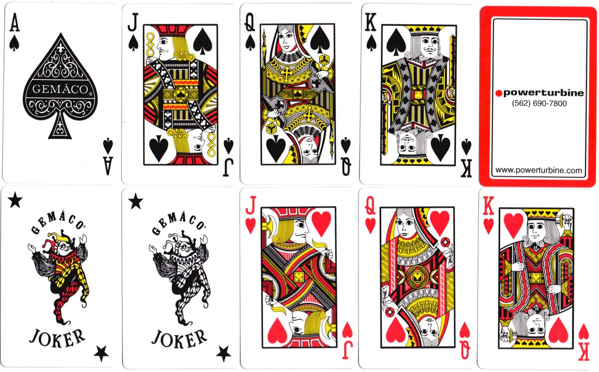 'Gemaco' playing cards produced for Powerturbine
