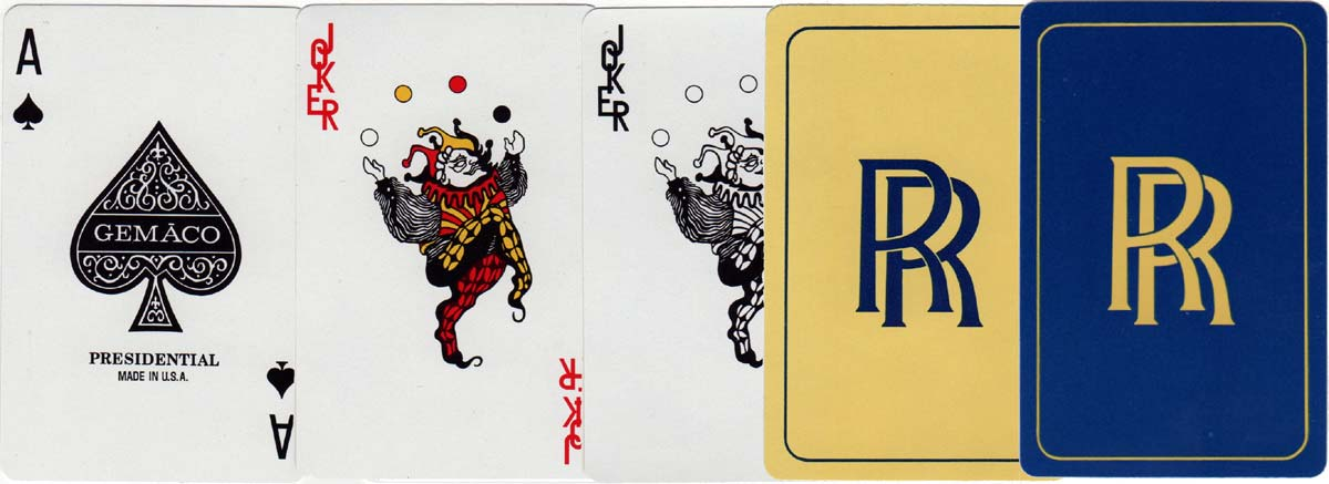 Gemaco Presidential playing cards produced for Rolls Royce