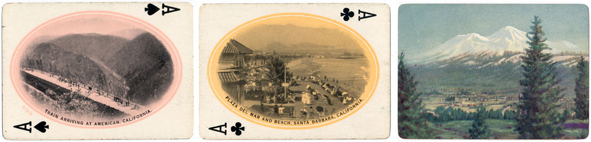 Southern Pacific Souvenir of the Golden West playing cards published by the Interstate Company, c.1915