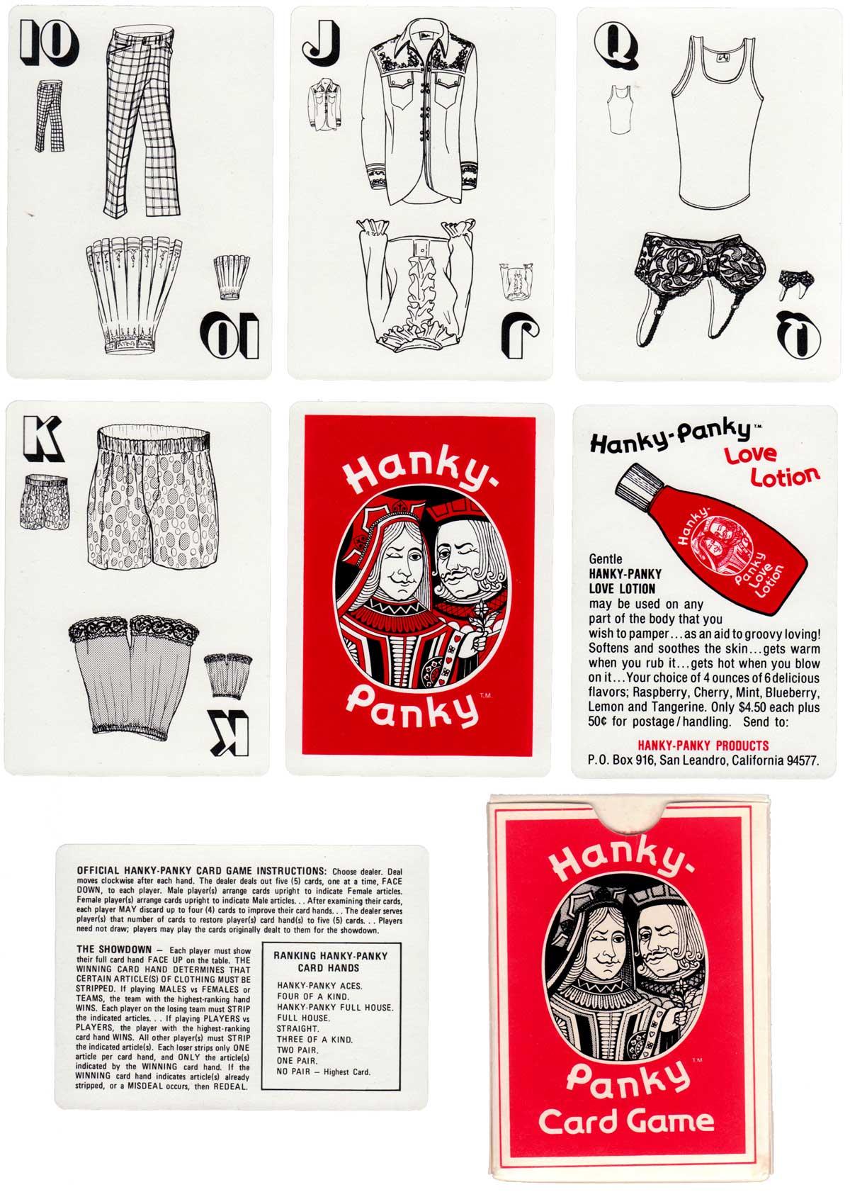 Hanky-Panky card game, c.1975